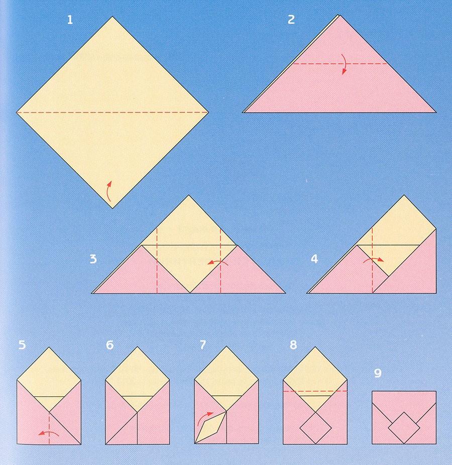 Конверт из а4 для открытки