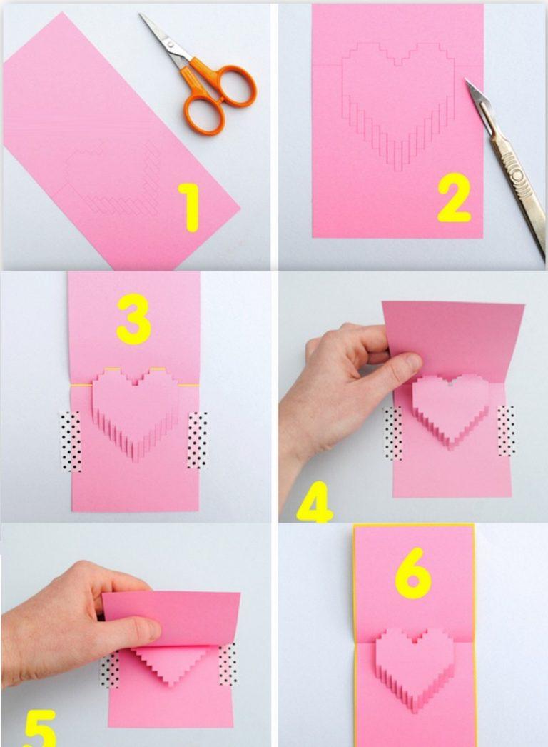 что можно сделать из бумаги для открытки последнем уже