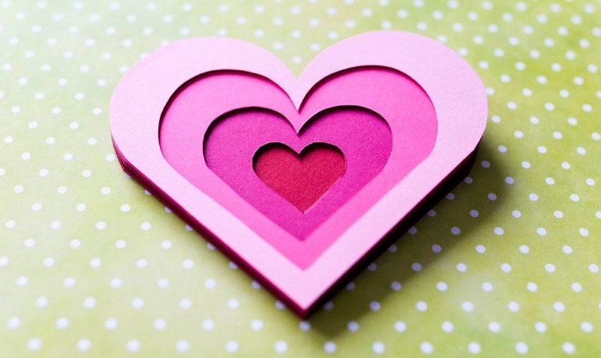 Как сделать открытку с сердцами дорожка любви