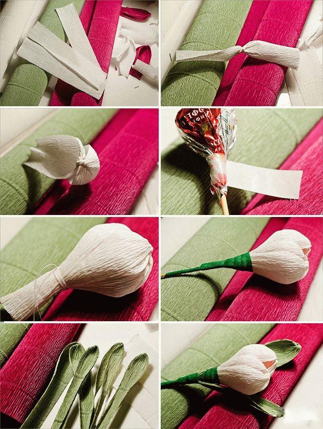 Как сделать букет тюльпанов из конфет своими руками