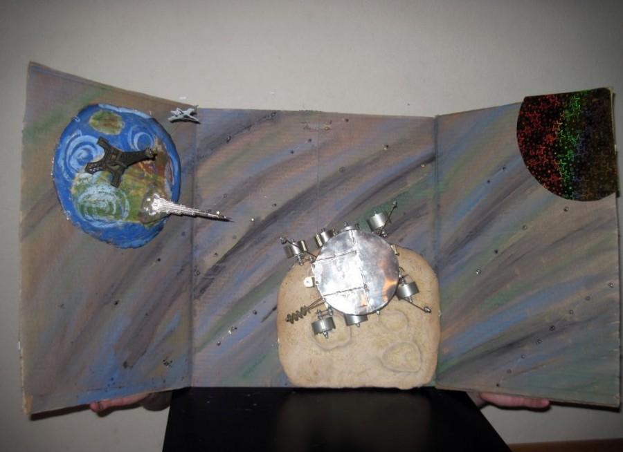 Как сделать космическую открытку, добрым понедельником открытка
