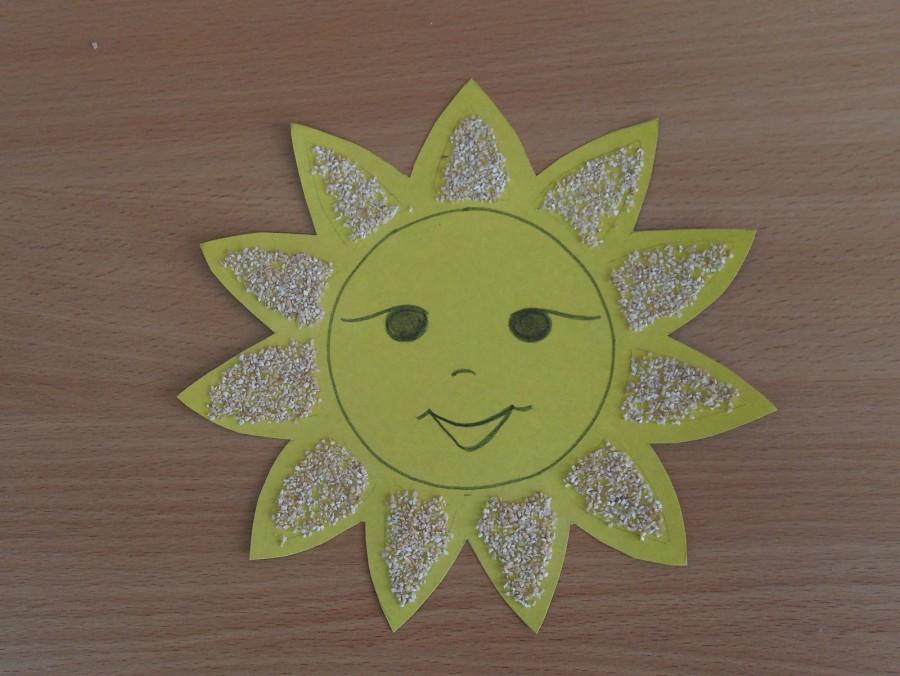 эти солнце из цветной бумаги шаблоны каждым