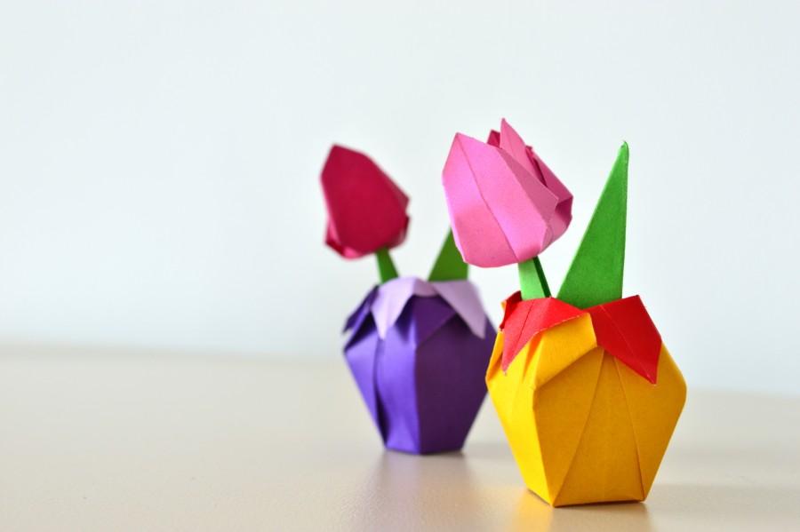 Днем, картинки тюльпаны из бумаги