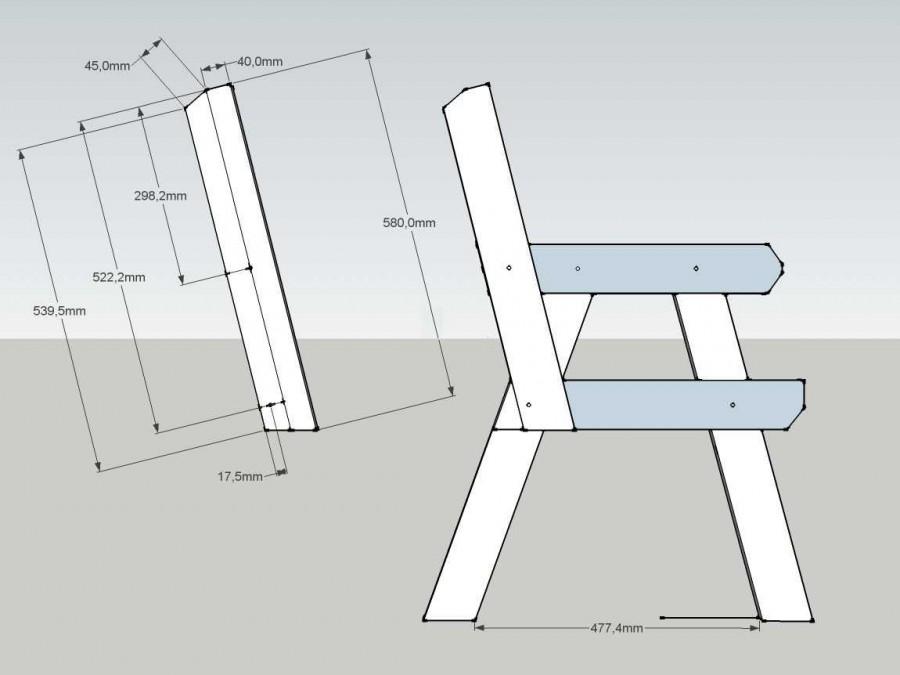 дачная скамейка со спинкой своими руками