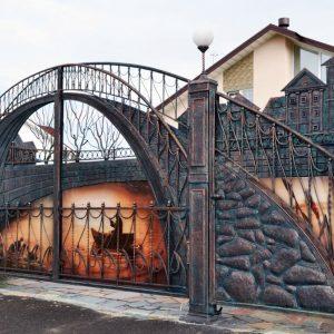 Ворота своими руками – чертежи, схемы, проекты и различные варианты изготовления современных конструкций